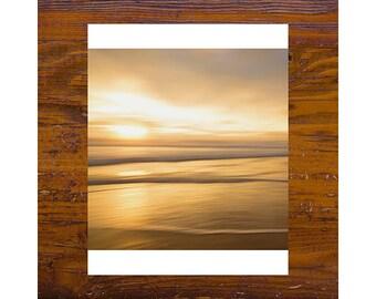 8x8 print [JCP-384] - OCEAN #2 - Manly Beach Sunset - orange, beach photography, sydney, australia, abstract, impressionist photography