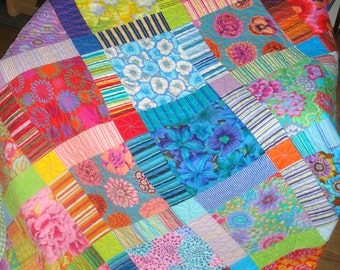 Queen King Quilt Kaffe Fassett Patchwork