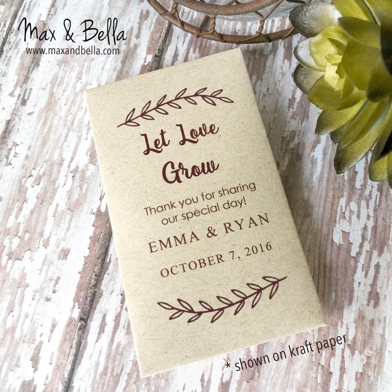 diy custom seed packets custom kraft personalized envelopes
