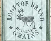 Christmas SVG Cut File - Rooftop Reindeer Grains - Reindeer SVG - Digital svg, dfx, png and jpg files available for instant download