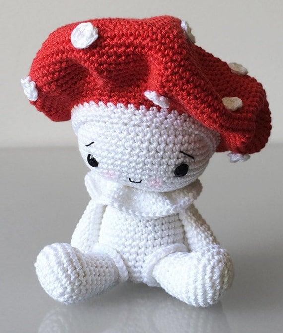 Amigurumi Mushroom Crochet Patterns : Amigurumi Pattern Amanita the Mushroom by pepika on Etsy