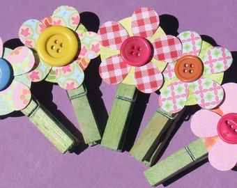 Blossom -  Clothespin Clip Set