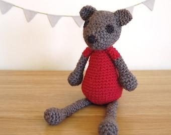 Teddy Bear, Knitted Teddy Bear, Handmade Teddy Bear, Baby Girl Gift, Baby Shower Gift, Newborn Gift, Soft Toys, Girl Toddler