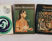 Three GreatLittle  Art Books- Art Nouveau, Indian Miniatures and Tapestries