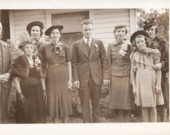 vintage photo Incredible 1940s Wedding Everyone Looking through the Lens of Camera