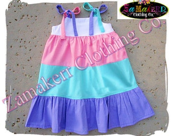 Custom Boutique Clothing Girl Spring Easter Tiered Pink Dress Toddler Infant Baby Birthday 1st Size 3 6 9 12 18 24 month 2t 2 3 4 5 6 7 8 T