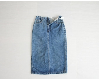 25% OFF SALE long denim skirt / The Gap denim skirt / high waist jean skirt