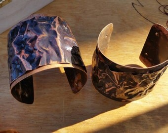 Lovely Textured Copper Cuff