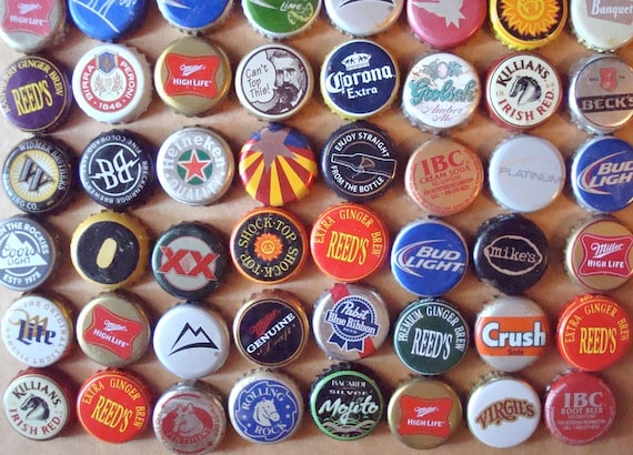 Metal beer soda recycled bottle caps found by - Beer bottle caps recyclable ...