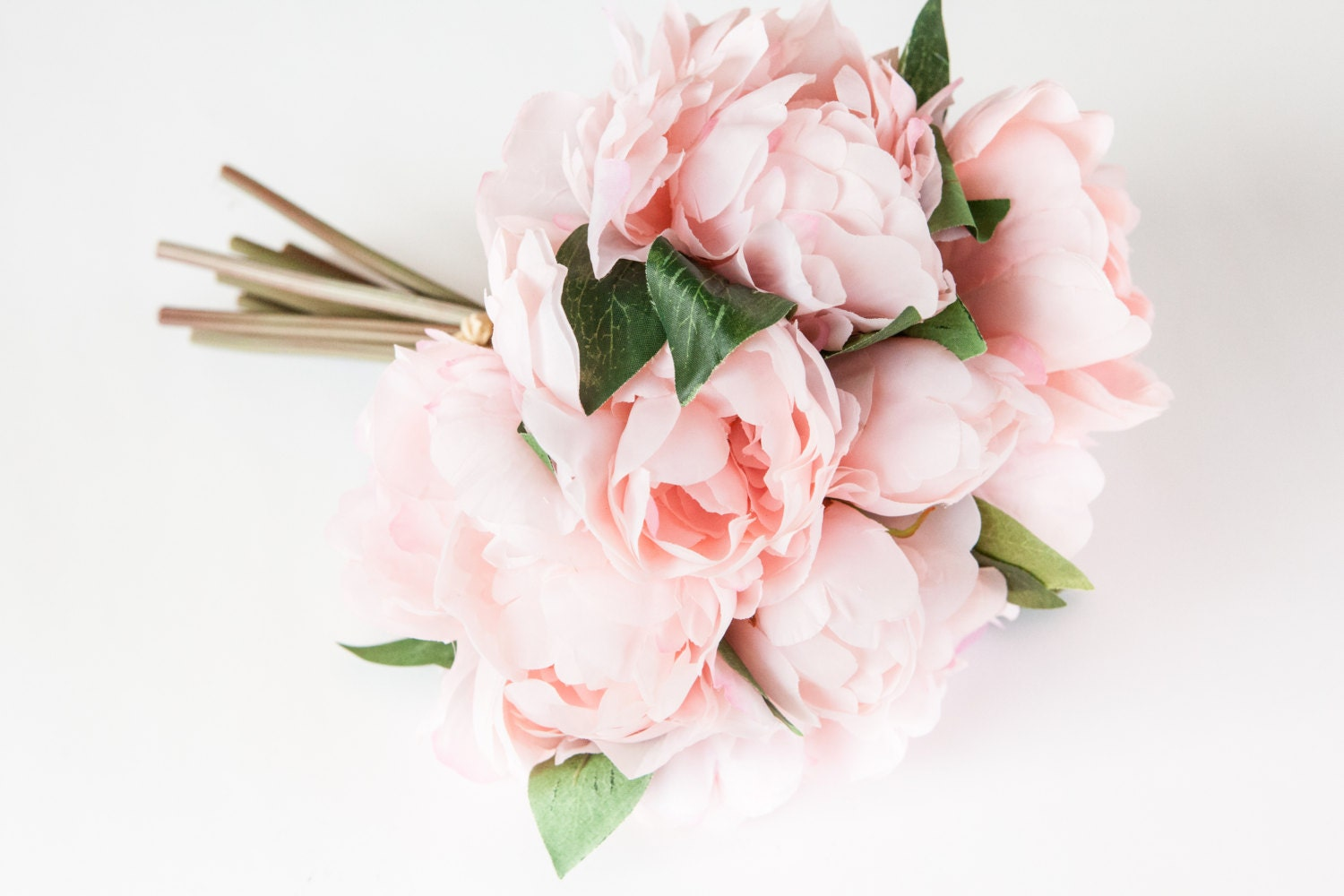 Whimsical Pastel Pink Peony BOUQUET Artificial Flower