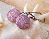 Hypoallergenic Jewelry - Hypoallergenic Earrings - Bead Jewelry - Pure Titanium Earrings - Beaded Dangle Earrings - Pink Beaded Earrings
