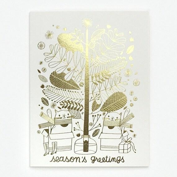 Tree Cats - Greeting Card