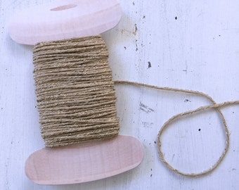 Gold Twine, Holiday Twine, 20 yards, Sparkle Bakers Twine, Wrapping Twine