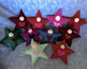 Valentine's star dolls made from wool with love