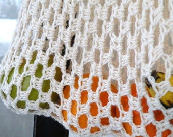 Tote Bag, Market Bag, Beach Bag, String Bag, Recycled Cotton Bag