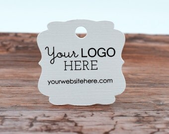 """180 tags - 1.5"""" - Customized Ornate Cut Small Price Tags Jewelry Hang Tags Labels 