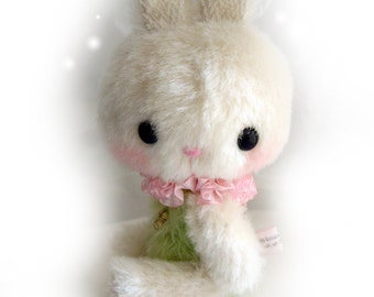anime rabbit RAPIPI OOAK artist bear rabbit e-pattern by Jenny Lee of jennylovesbenny bears PDF