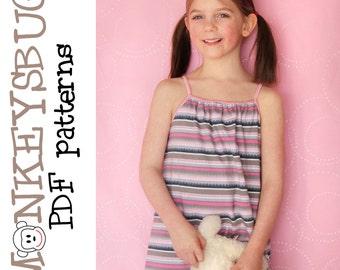 Sweet Slumber Pajama Nightgown eBook PDF pattern