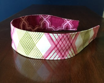 Comfortable Headband-- Washable, Reversible -- Joel Dewberry fabric plastic insert