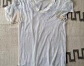 1960's vintage threadbare v neck t shirt