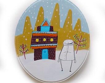 My Winter House - ORIGINAL PAINTING