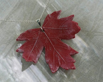 Fiery Red Maple Necklace
