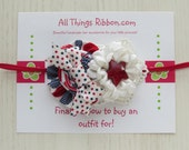 Red Navy Patriotic Headband for Girls Babies Newborn Photo Prop