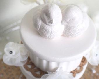 Wedding Birds - Ceramic Wedding Decor - Wedding Cake Decor - Love Birds Cake Topper - White Birds - Bird Lovers - LGBT - Lovers - Gift