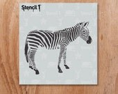 "Zebra Stencil - Reusable Craft & DIY Stencils - S1_01_301_S - Small - (5.75""x6"") - By Stencil1"