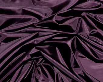 Poly Lining fabric 58 inches wide..Plum  . used for lining  jackets, skirts, dresses. vests, soft, light weight