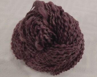 Dusty Rose Handspun Boucle Yarn