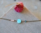 Opal choker /pearl choker /layering necklace /boho jewelry. tiedupmemories