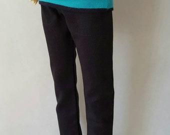 BLACK TWILL PANTS for bjd Volks sd13 delf sweet dolls