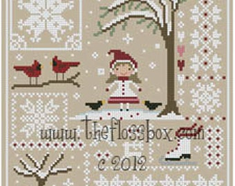 Snow Sampler Cross Stitch Pattern