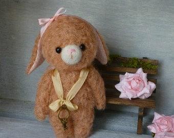 OOAK Handmade 5 inch viscose Artist Teddy Bunny  Bessie