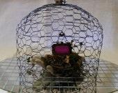 Hand Made Cloche from Antique / Vintage Chicken Wire