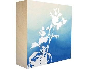 limited edition botanical print on birch wood panel by madebykim. Black Bedroom Furniture Sets. Home Design Ideas