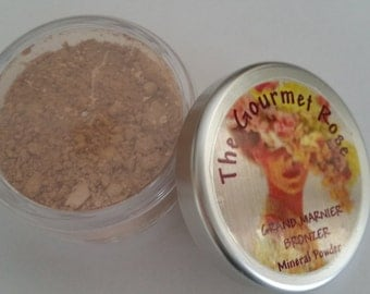 GRAND MARNIER BRONZER Pure All Natural Mineral Sheer Bare Makeup Cover Minerals Xl Jar Skin Face Highlight Cheek Highlighter