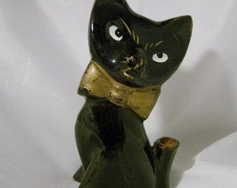 Vintage Black Cat Pencil / Pen Holder