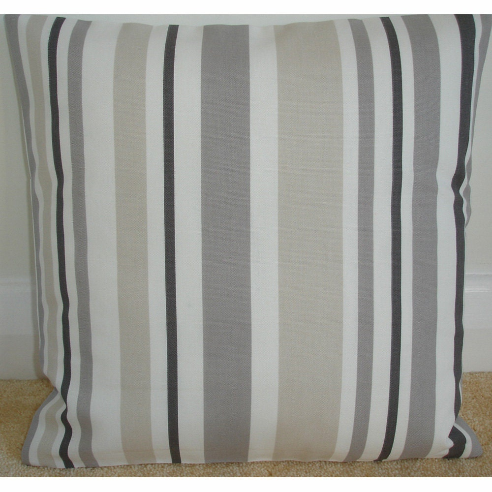Euro Pillow 26x26 26x26 Euro Sham Stripe Pillow Cover Gray
