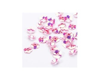 300 pink flower sequin
