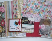 Do-It-Yourself-12x12 Scrapbook Kit #43, Scrapbook Page, Scrapbook Mini Album, Pre-Made Pages, Pre-Made Albums