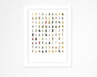 Faye Moorhouse Giclee Print || 100 HIDEOUS HOUNDS