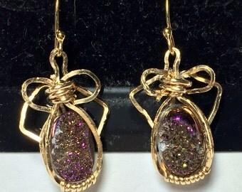 Druzy stones in gold