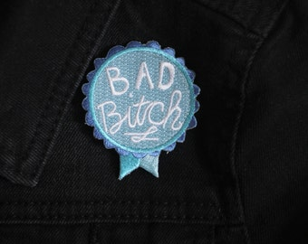 Bad B Award Iron-on Embroidered Patch