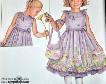 ON SALE Sewing Pattern Simplicity 2949 Girls' Flower Girl Dresses  Uncut Complete Size 3-8