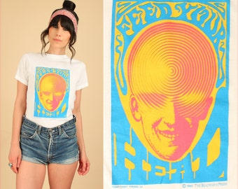 Vintage 80s Feed Your Head T Shirt Psychedelic 60's Rock White Rabbit HiPPiE T-Shirt TShirt Small S