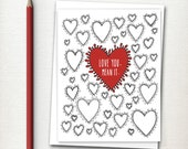 Valentines Day Card  - Valentine - Love Card - Heart Card - Love You Mean It - Valentine Card - Everyday Card - Thinking of You