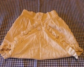 Antique Victorian White Cotton Lace Diaper Cover  reserved for : sbakertx88