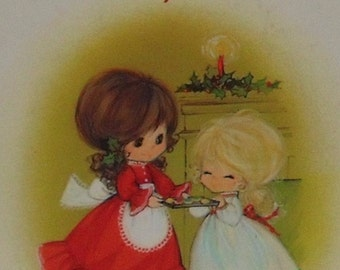 Recipe For a Merry Christmas Vintage 1970's Hallmark Mementoes Childrens' Book